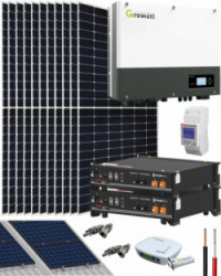 Kit Solar Híbrido Baterías 5000W 25000Whdia Growatt